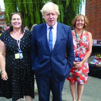 Boris Johnson was a surprise guest at Lady Bankes Schools' Celebration