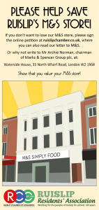 Save Our M&S Leaflet