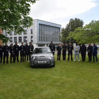 EV Students with the Mini Electric